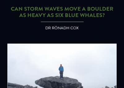 Scientists used to think that only tsunamis were capable of moving gigantic rocks far inland and above high water. Geologist Dr Rónadh Cox now has the evidence[…]