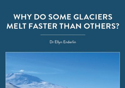 As the climate warms, glaciers – the biggest reservoir of fresh water on the planet – are melting. But some are melting faster than others. Dr Ellyn Enderlin, Assistant Professor of […]