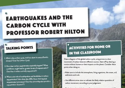 Earthquakes and the Carbon Cycle