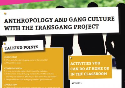 Anthropology and Gang Culture