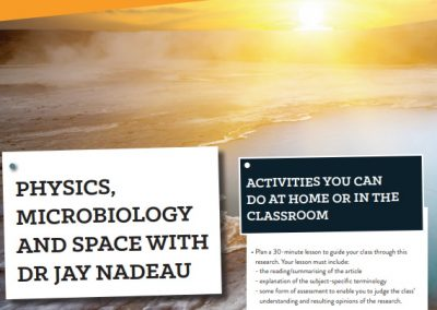Physics, Microbiology and Space