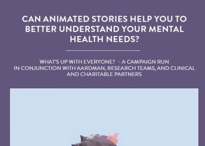 What's Up With Everyone? is a campaign run in conjunction with Aardman, research teams from various universities, clinical and charitable […]