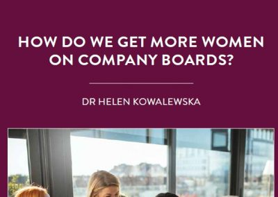 Despite progress in recent years, women remain underrepresented on company boards. This is a problem: research shows that companies […]